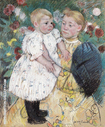 In the Garden 1893 By Mary Cassatt - Oil Paintings & Art Reproductions - Reproduction Gallery