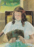 Young Girl Reading c1900 By Mary Cassatt