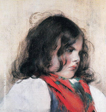Head of a Child By Mary Cassatt