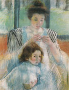 Mother and Child 1900 B By Mary Cassatt