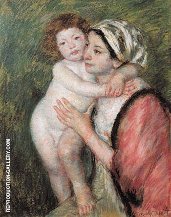 Mother and Child 1914 By Mary Cassatt