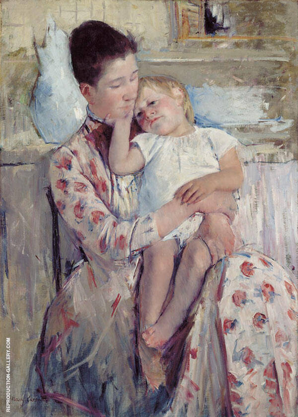 Mother and Child 1890 Painting By Mary Cassatt - Reproduction Gallery