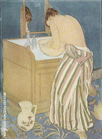 Woman Bathing 1891 By Mary Cassatt