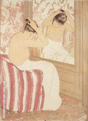 Study 1890 By Mary Cassatt - Oil Paintings & Art Reproductions - Reproduction Gallery