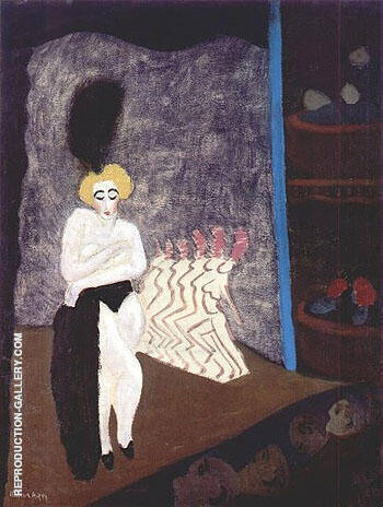 Burlesque 1936 By Milton Avery - Oil Paintings & Art Reproductions - Reproduction Gallery