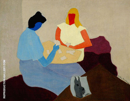 Card Players 1944 By Milton Avery - Oil Paintings & Art Reproductions - Reproduction Gallery