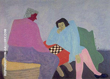 Checker Players 1943 By Milton Avery Replica Paintings on Canvas - Reproduction Gallery