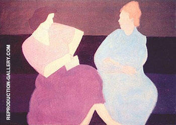Reproduction of Conversation 1956 by Milton Avery | Oil Painting Replica On CanvasReproduction Gallery