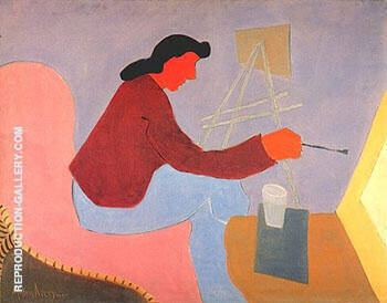 Female Painter 1945 By Milton Avery Replica Paintings on Canvas - Reproduction Gallery