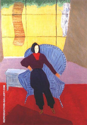 Girl In Wicker Chair 1944 By Milton Avery