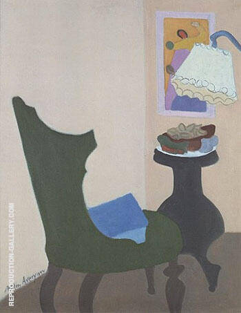 Reproduction of Green Chair 1944 by Milton Avery | Oil Painting Replica On CanvasReproduction Gallery
