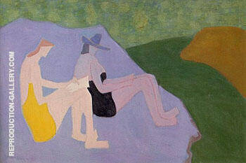 Reproduction of Sketchers by the Stream 1951 by Milton Avery | Oil Painting Replica On CanvasReproduction Gallery