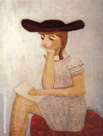 The Brown Hat 1941 By Milton Avery Replica Paintings on Canvas - Reproduction Gallery