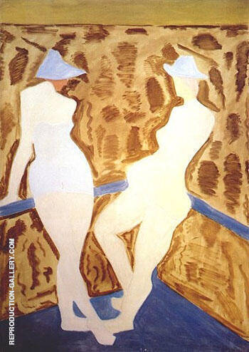Two Figures 1960 By Milton Avery - Oil Paintings & Art Reproductions - Reproduction Gallery