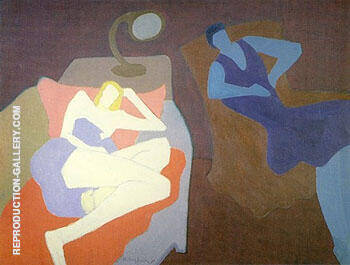 Two Women 1950 By Milton Avery