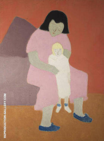 Child with Doll 1944 By Milton Avery Replica Paintings on Canvas - Reproduction Gallery