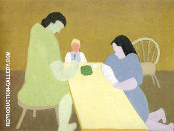 Childs Supper 1945 By Milton Avery - Oil Paintings & Art Reproductions - Reproduction Gallery