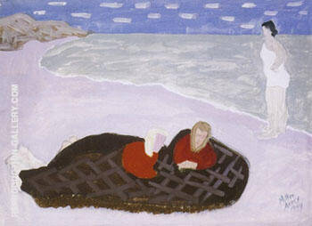 Chilly Girls by the Sea 1944 By Milton Avery