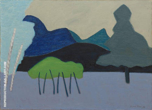 Reproduction of Clear Cut Landscape 1951 by Milton Avery | Oil Painting Replica On CanvasReproduction Gallery
