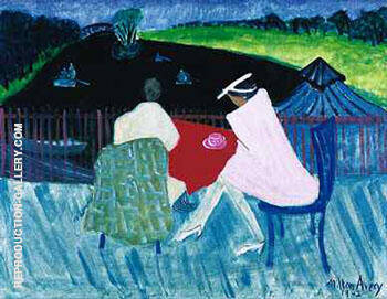 Clover Leaf Park 1942 Painting By Milton Avery - Reproduction Gallery