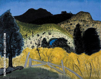 Green Landscape 1945 By Milton Avery - Oil Paintings & Art Reproductions - Reproduction Gallery
