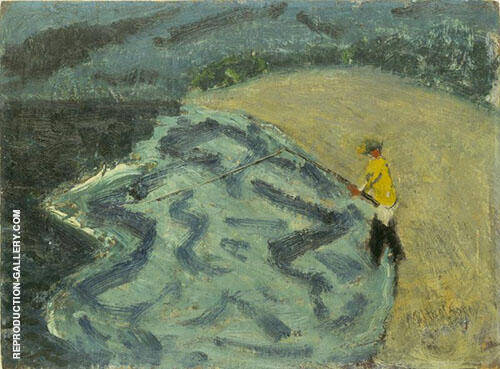 Man Fishing 1938 By Milton Avery Replica Paintings on Canvas - Reproduction Gallery