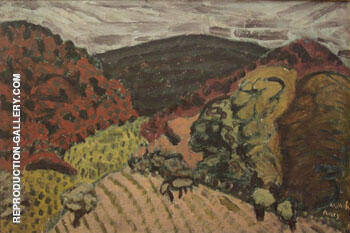 Moody Landscape 1930 By Milton Avery Replica Paintings on Canvas - Reproduction Gallery