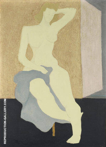 Reproduction of Nude with Blue Cloth 1944 by Milton Avery | Oil Painting Replica On CanvasReproduction Gallery