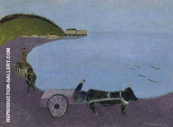 Oxcart Blue Sea 1943 By Milton Avery - Oil Paintings & Art Reproductions - Reproduction Gallery