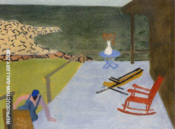 Porch and Chairs 1944 By Milton Avery Replica Paintings on Canvas - Reproduction Gallery