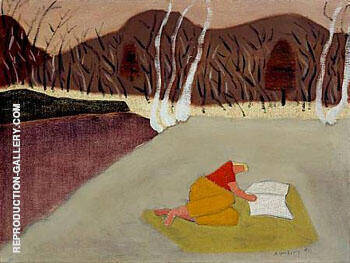 Reader 1947 Painting By Milton Avery - Reproduction Gallery