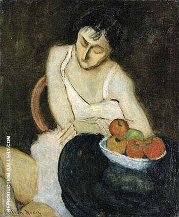 Sally Avery with Still Life 1926 By Milton Avery - Oil Paintings & Art Reproductions - Reproduction Gallery