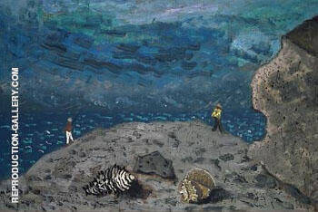 Shells and Fishermen 1940 Painting By Milton Avery - Reproduction Gallery