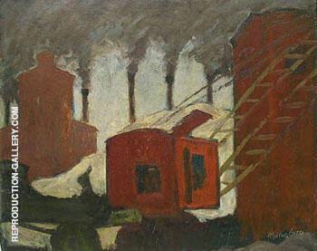 Smokestacks c1930 By Milton Avery