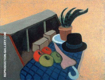 Still Life with Derby 1944 By Milton Avery Replica Paintings on Canvas - Reproduction Gallery