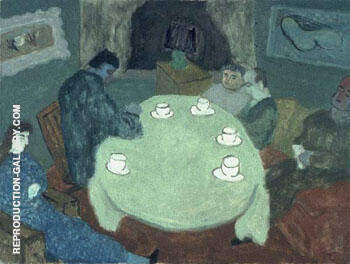 The Group after Dinner Coffee 1939 By Milton Avery