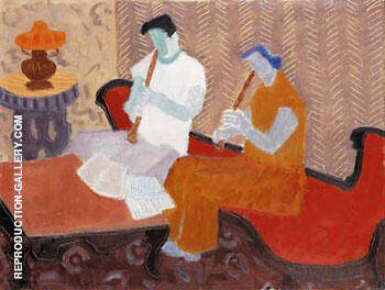The Musicians 1949 By Milton Avery - Oil Paintings & Art Reproductions - Reproduction Gallery