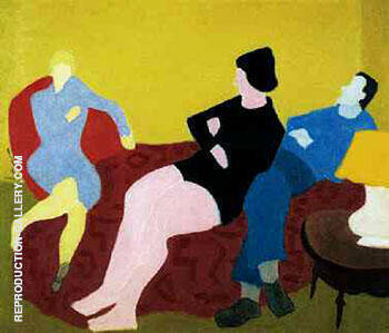 Three Friends 1944 By Milton Avery