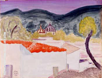 Village Rooftops 1946 By Milton Avery - Oil Paintings & Art Reproductions - Reproduction Gallery