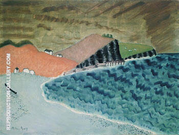 Gaspe Landscape Neuberger Marie 1943 By Milton Avery