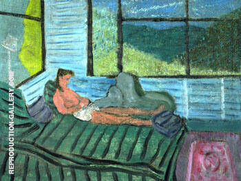 Interior with Figure 1938 By Milton Avery Replica Paintings on Canvas - Reproduction Gallery