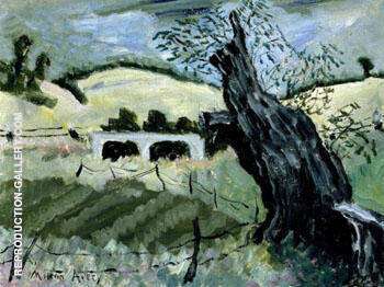 Landscape with Tree By Milton Avery
