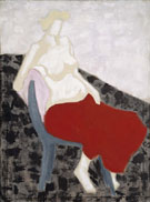 Nude with Red Drape 1956 By Milton Avery