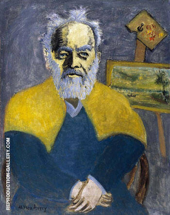 Portrait of Louis M Eilshmius 1942 By Milton Avery