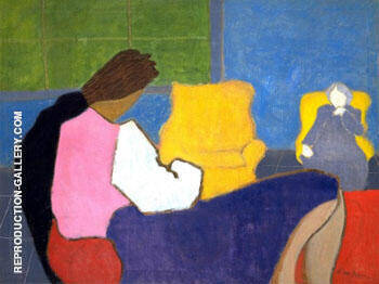 Sally and Sara 1947 By Milton Avery - Oil Paintings & Art Reproductions - Reproduction Gallery