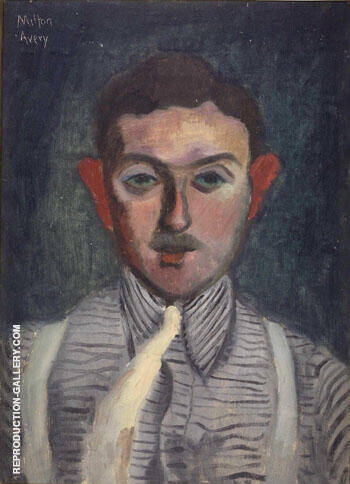 Striped Shirt 1932 By Milton Avery - Oil Paintings & Art Reproductions - Reproduction Gallery