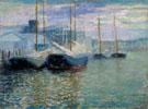 Untitled Harbor Scene c1921 By Milton Avery