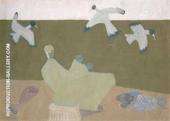 Surf Fisherman 1950 By Milton Avery