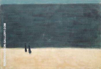 Walkers by the Sea 1954 By Milton Avery
