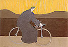 Bicycle Rider by the Loire 1954 By Milton Avery